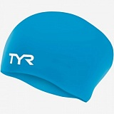Шапочка для плавания TYR Junior Long Hair Wrinkle-Free Silicone Cap от магазина Best-Swim.ru